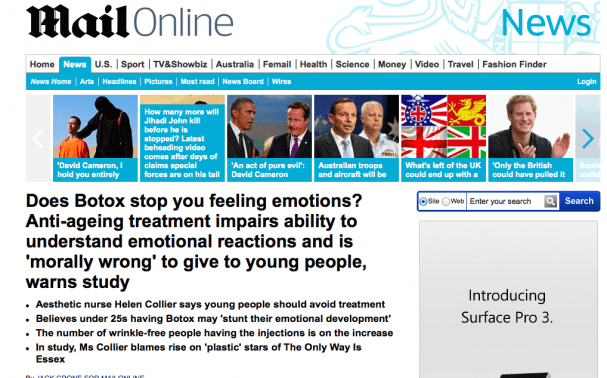 Botox Stunts Emotional Development – Really?!