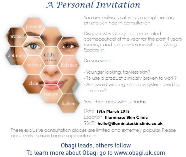 Join us! Obagi Consultation Day