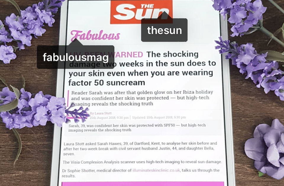 Dr Sophie Gives Her Opinion in The Sun