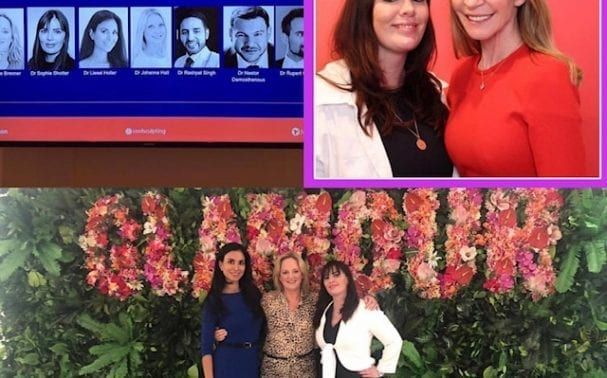 Dr Sophie attends Tatler and Glamour events on behalf of Allergan
